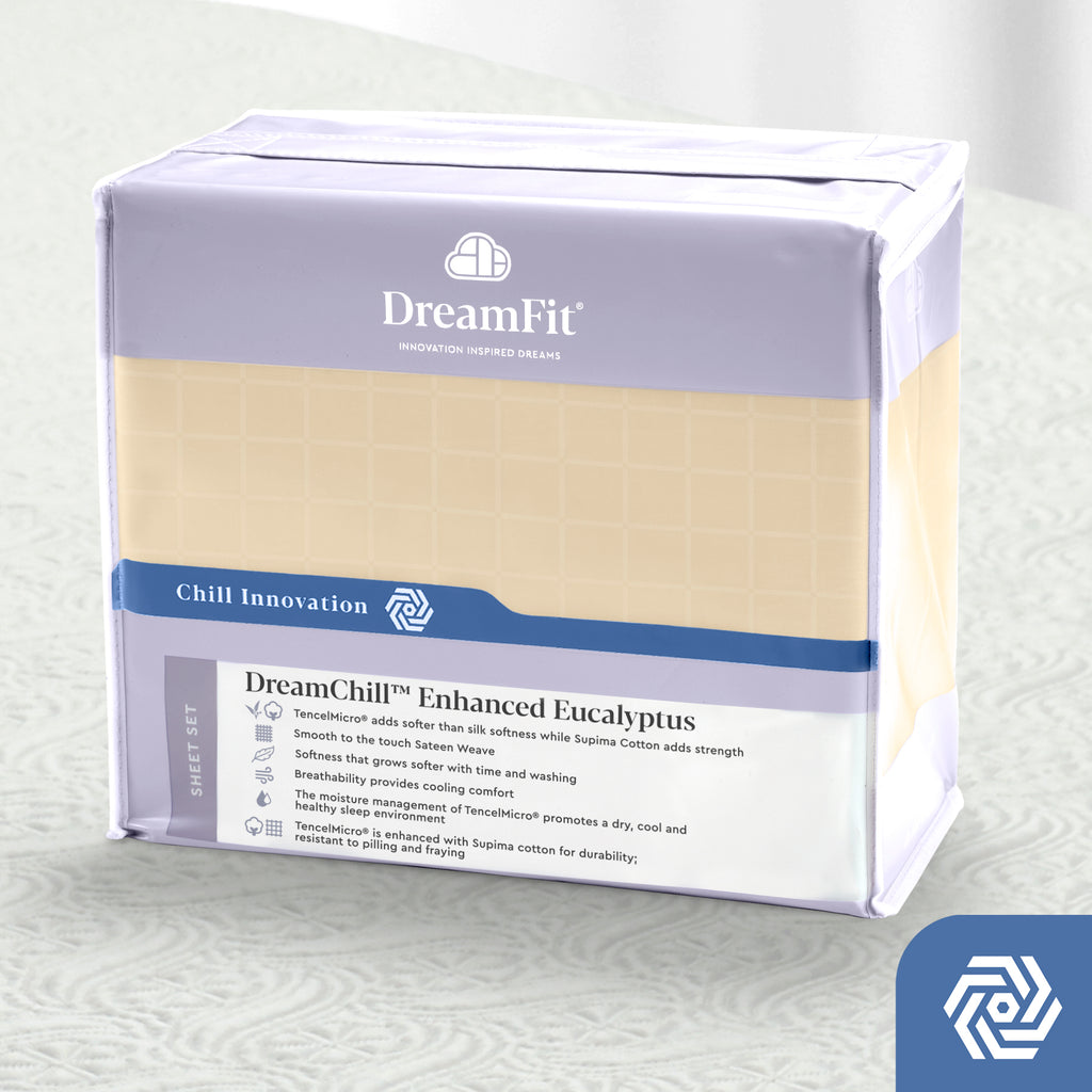 DreamFit 6° Ivory Enhanced Eucalyptus Cotton Sheet Set-Hometex-Sleeping Giant