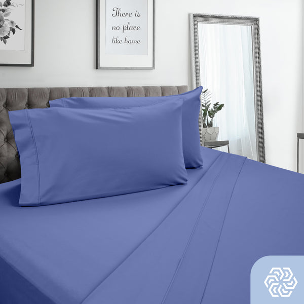 DreamFit 3° Blue 100% Pima Cotton Sheet Set-Hometex-Sleeping Giant
