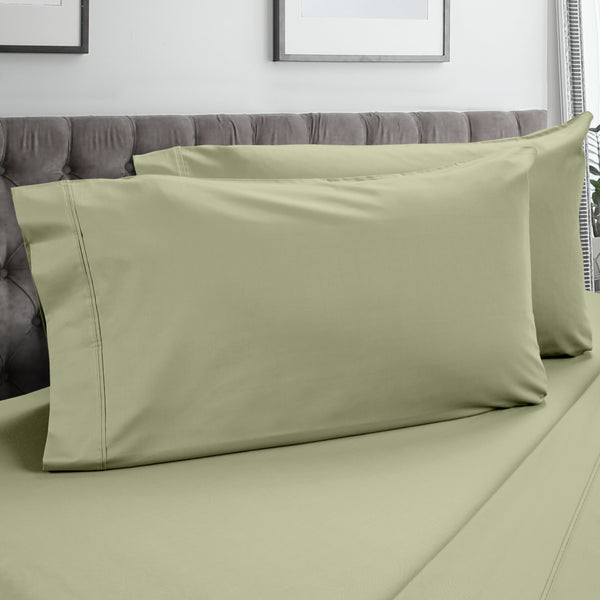 DreamFit 3° Celadon 100% Pima Cotton Pillowcase-Hometex-Sleeping Giant