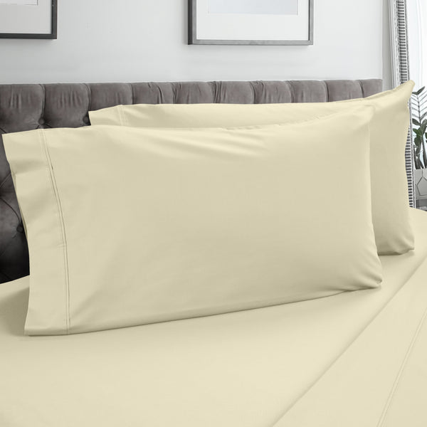 DreamFit 3° Soft Linen 100% Pima Cotton Pillowcase-Hometex-Sleeping Giant