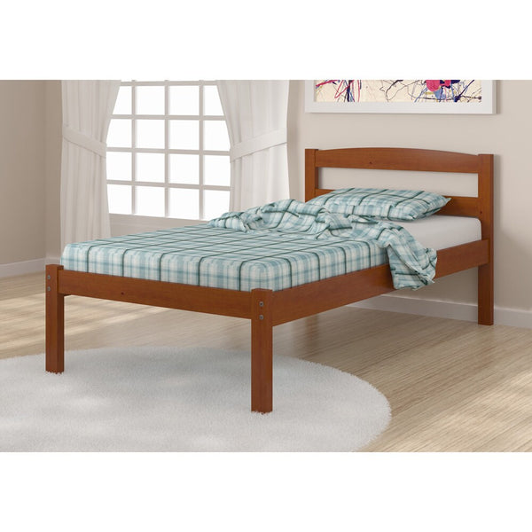 Donco Econo Bed in Light Espresso-Donco-Sleeping Giant