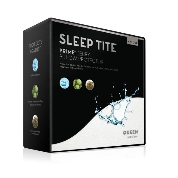 Malouf Sleep Tite Prime Terry Pillow Protector-Malouf-Sleeping Giant