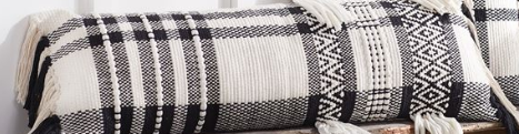 Mud Pie Black & White Check Pillows-MUD PIE-Sleeping Giant