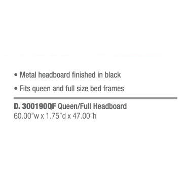 Coaster Traditional Black Metal Headboard With Spindles-Coaster-Sleeping Giant