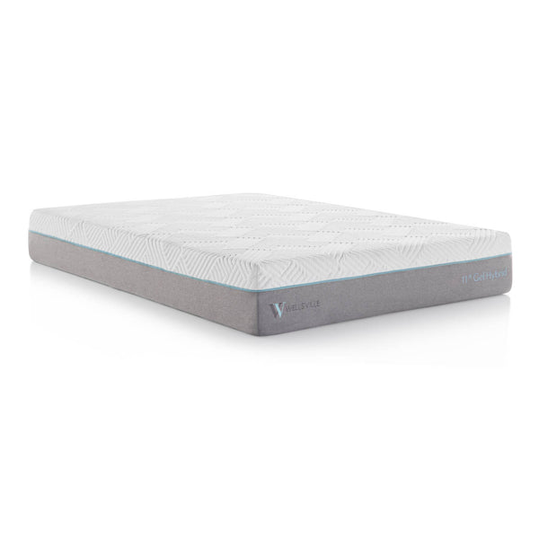 "Malouf Wellsville 11"" Memory Foam Hybrid Mattress-Malouf-Sleeping Giant"