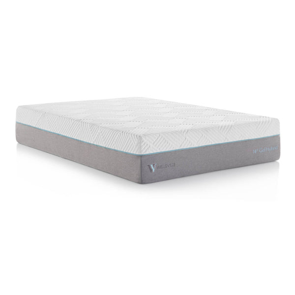 "Malouf Wellsville 14"" Memory Foam Hybrid Mattress-Malouf-Sleeping Giant"