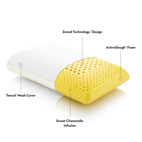 Malouf Zoned ActiveDough® + Chamomile Pillow-Malouf-Sleeping Giant