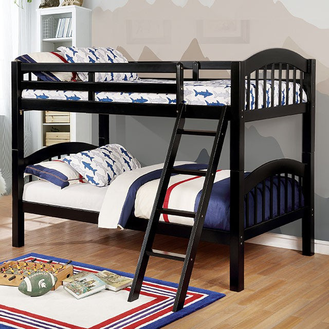 Furniture of America Coney Island Bunk Bed Twin/Twin-Furniture of America-Sleeping Giant
