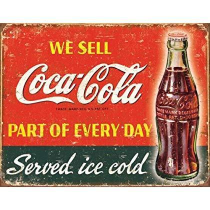 Coca-Cola Part of Every Day Tin Wall Sign-Rainbow-Sleeping Giant