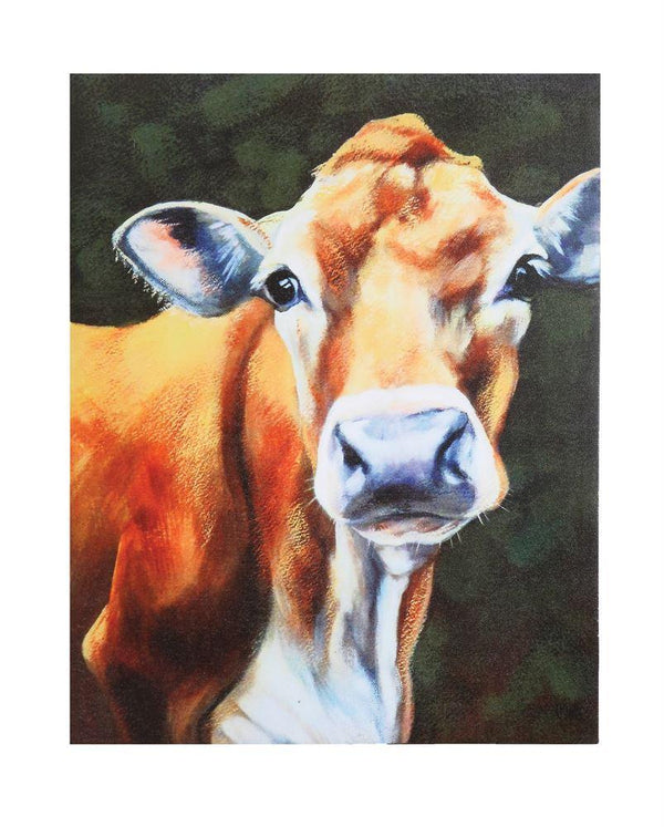 COOP Canvas Wall Decor w/ Cow-COOP-Sleeping Giant