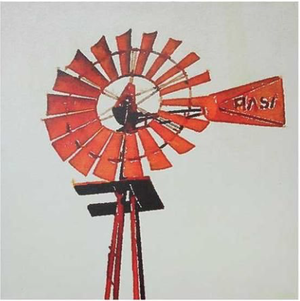 COOP Canvas Wall Décor W Windmill-COOP-Sleeping Giant