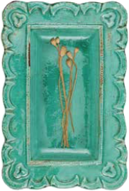 COOP Ceramic Terra Cotta Green Serving Tray-COOP-Sleeping Giant