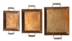 COOP Copper Tray with Wooden Handles-COOP-Sleeping Giant