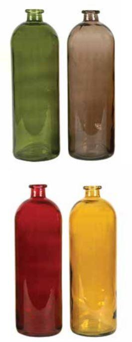 COOP Decorative Glass Bottle, 4 Colors-COOP-Sleeping Giant