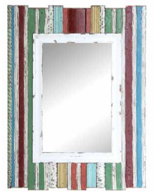 COOP Distressed Wood Framed Mirror-COOP-Sleeping Giant
