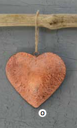 COOP Hammered Iron Heart Ornament-COOP-Sleeping Giant