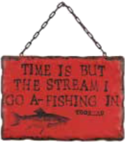 COOP Metal Wall Décor With Fishing Message-COOP-Sleeping Giant