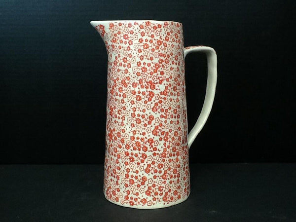 COOP Red Flower Stoneware Pitcher-COOP-Sleeping Giant