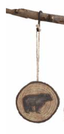 COOP Resin Wood Slice Ornament-COOP-Sleeping Giant