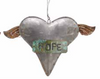 COOP Tin Heart w/ Wings Ornament-COOP-Sleeping Giant