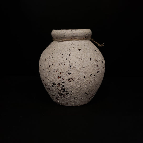 Coop White Cracked Clay Vase Collection-COOP-Sleeping Giant