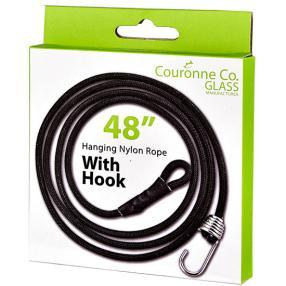 "Couronne Co. 48"" Steel Wire Cable With Spring Metal Hook-Couronne Co.-Sleeping Giant"