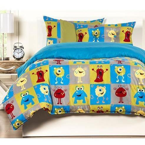 Crayola Comforter Set Full/Queen Monster Friends-SIS COVERS-Sleeping Giant