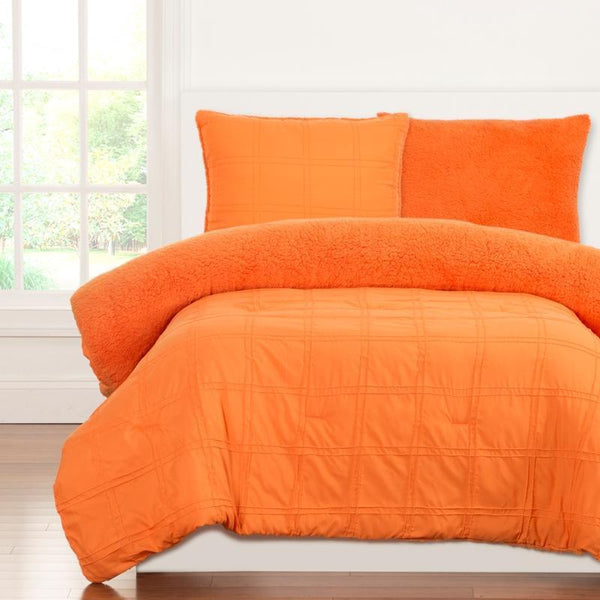 Crayola Comforter Set Twin Playful Plush Outrageous Orange-SIS COVERS-Sleeping Giant