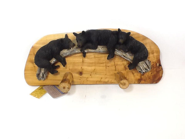 DeLeon 3 Bears Wood Wall Hooks-DeLeon-Sleeping Giant