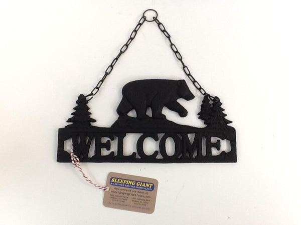 DeLeon Cast Iron Bear Wall Hanging Welcome-DeLeon-Sleeping Giant