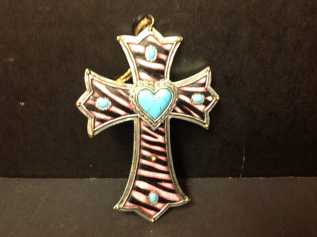 DeLeon Colored Cross Ornament (3 asst.)-DeLeon-Sleeping Giant