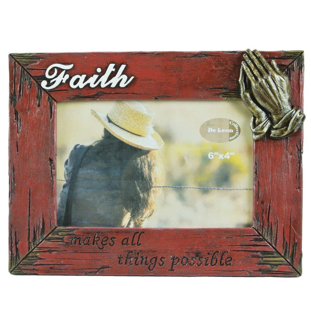 DeLeon Faith Frame with Praying Hands-DeLeon-Sleeping Giant