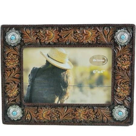 "DeLeon Frame 6""X4"" Faux Tooled Leather Look-DeLeon-Sleeping Giant"