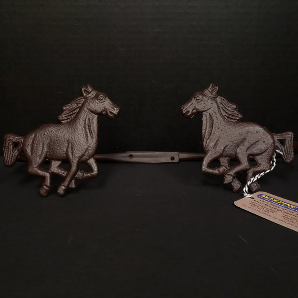 DeLeon Metal Horse Curtain Hold Back Pair-DeLeon-Sleeping Giant