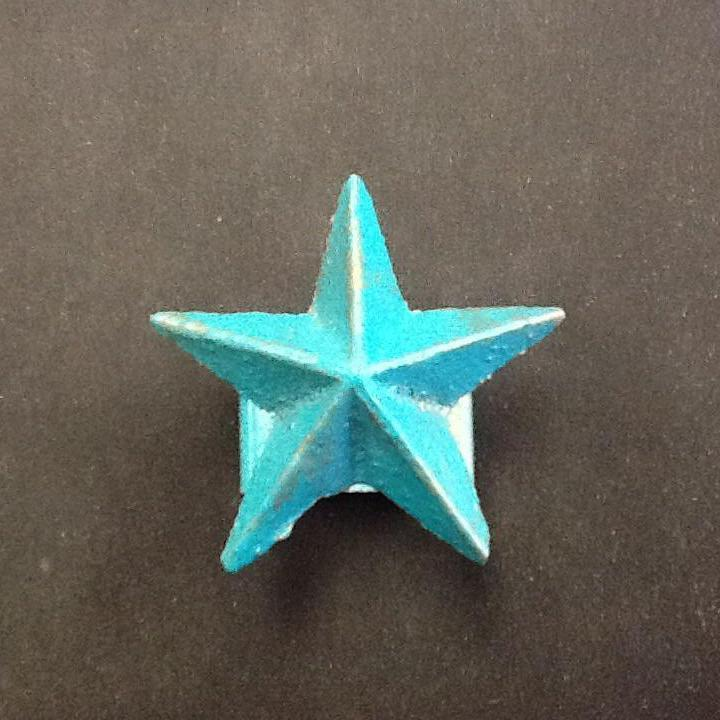 DeLeon Metal Napkin Ring Star in Turquoise-DeLeon-Sleeping Giant
