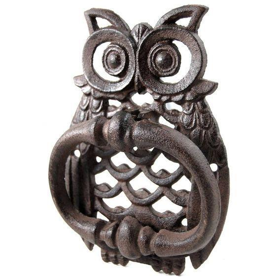 Deleon Owl Door Knocker-DeLeon-Sleeping Giant