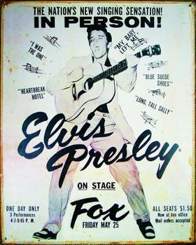 Elvis Presley on Stage Tin Wall Sign-Rainbow-Sleeping Giant