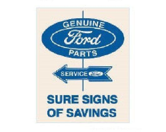 Genuine Ford Parts Sure Signs of Savings Tin Wall Sign-Rainbow-Sleeping Giant