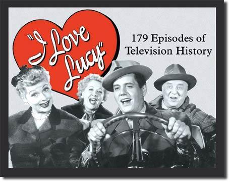 I Love Lucy 179 Episodes of Television History Tin Wall Sign-Rainbow-Sleeping Giant