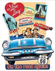 I Love Lucy On the Road Again Tin Wall Sign-Rainbow-Sleeping Giant