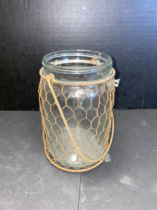 Parkhill Jar With Chicken Wire-Parkhill-Sleeping Giant