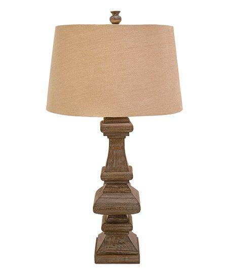 Imax Giselle Wood Lamp-IMAX-Sleeping Giant