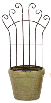 IMAX Iron Trellis Flower Planter-IMAX-Sleeping Giant
