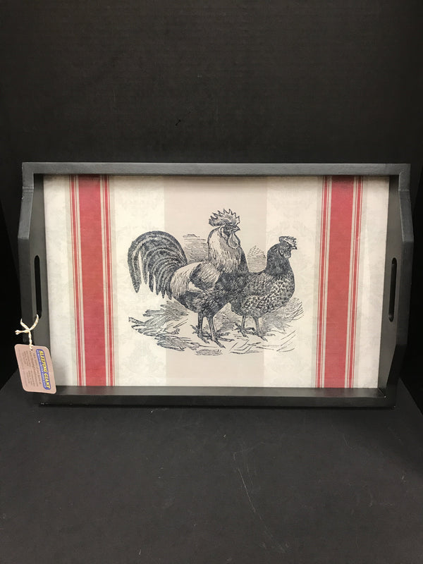 IMAX Jackie Serving Trays-Large Chicken-IMAX-Sleeping Giant