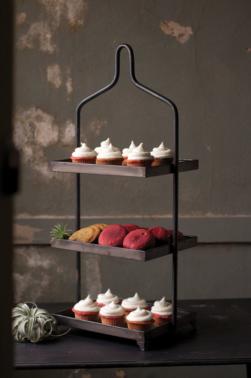 Kalalou 3 Tier Tray Display-Kalalou-Sleeping Giant