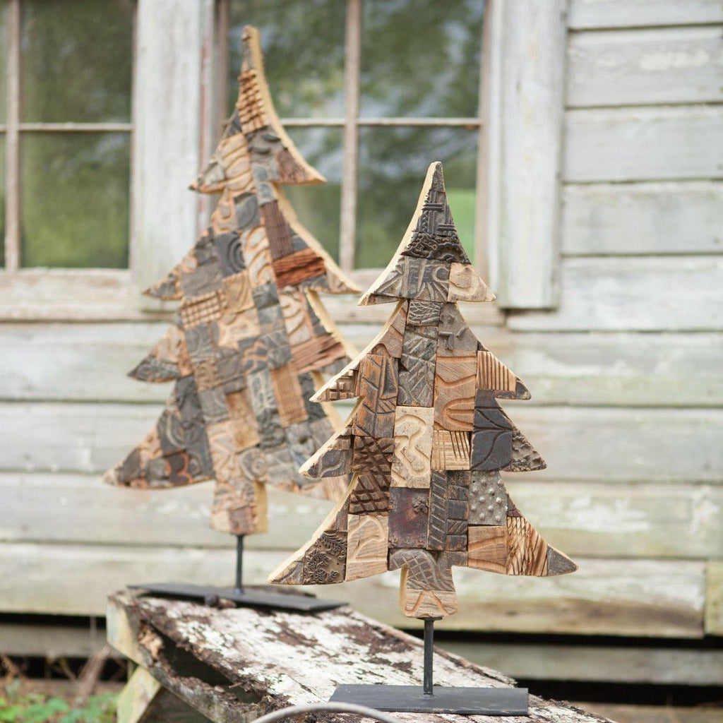 Kalalou Recycled Printing Block Christmas Tree-Kalalou-Sleeping Giant