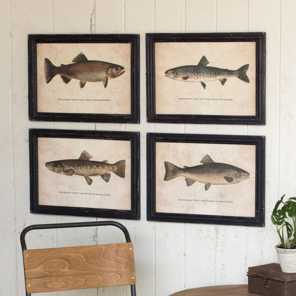Kalalou Trout Prints Under Glass Pictures-Kalalou-Sleeping Giant