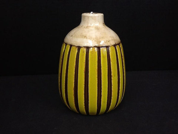Kalalou Yellow and Cream Vase-Kalalou-Sleeping Giant