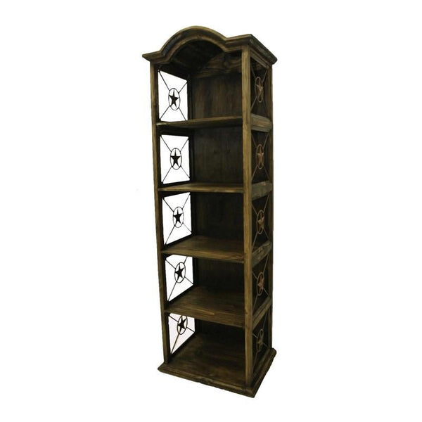 "LMT 24"" Bookcase With Iron Stars-LMT-Sleeping Giant"