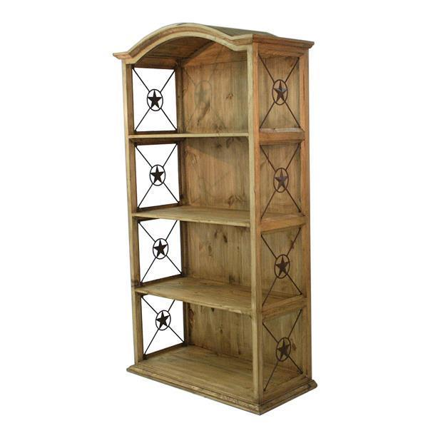 "LMT 40"" Bookcase With Iron Stars-LMT-Sleeping Giant"
